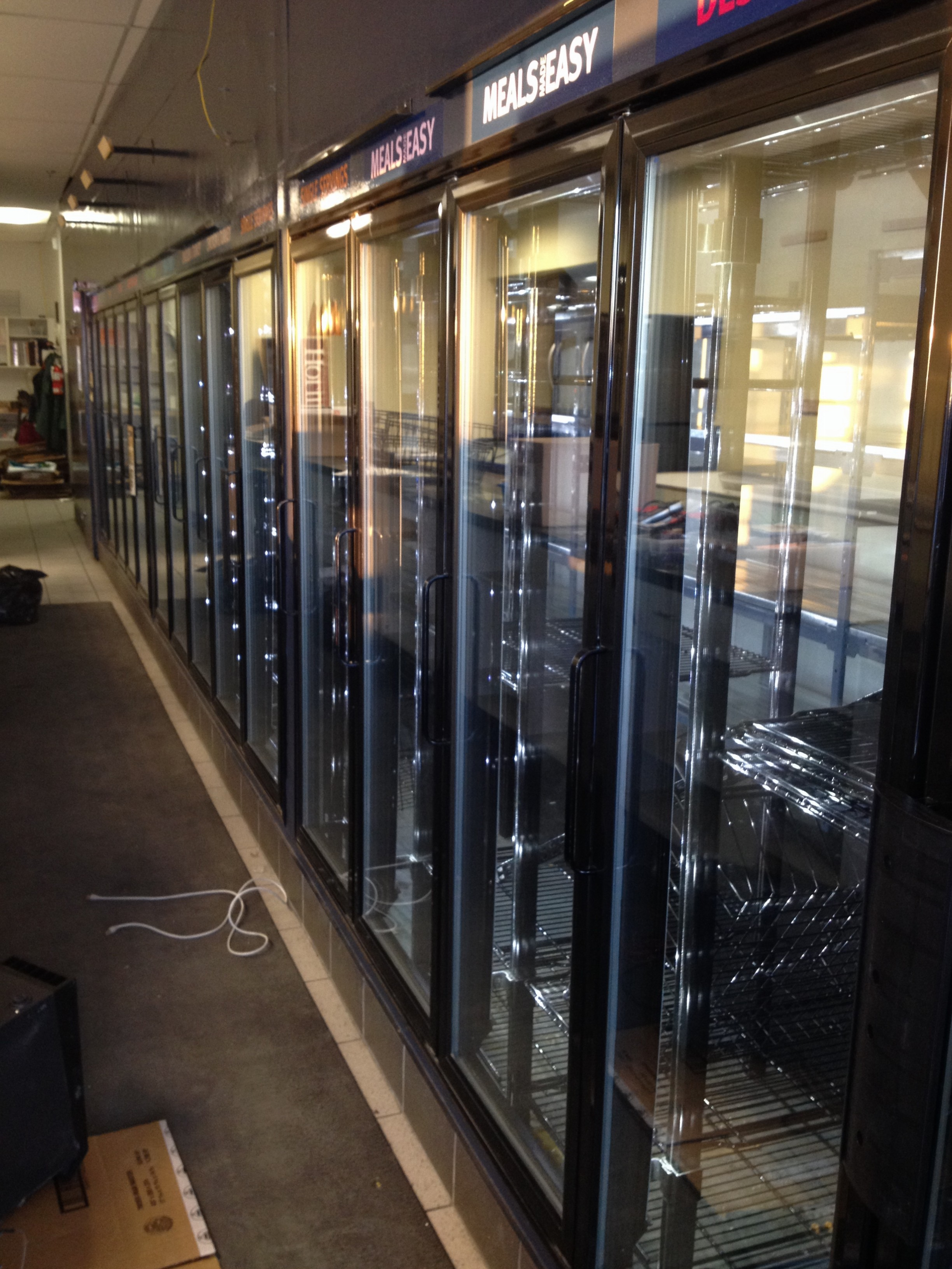 15 Door Glass Freezer